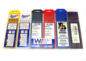 Tig Welding Tungsten Electrode 1.6mm Red / White / Grey / Gold / Black