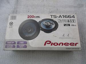"""OPEN  BOX  PIONEER  TS-A1664  6 1/2""""  3  WAY  SPEAKERS  (DISTRESSED  BOX)"""