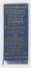 1932 WOMEN'S PATRIOTIC NATIONAL DEFENSE CONFERENCE WASH., D. C. PINBACK RIBBON