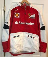 Ferrari Puma Scuderia Formula F1 Men's Hooded Jacket Shell Santander Sz L