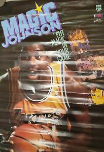 MAGIC JOHNSON Poster 1989 Vintage PUT MAGIC IN YOUR GAME Video NBA CBS FOX RARE!