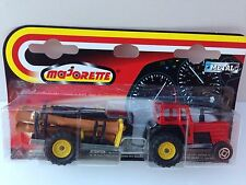 MAJORETTE METAL TRACTOR WITH FARM TRAILER (BEAUTIFUL)  1:64 (SCALE)  NEW