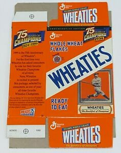 1999 Wheaties Mini Cereal Box 75 Years of Champions 1924-1999 (Unfolded)