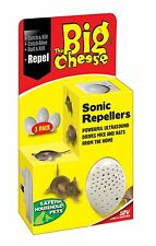 STV728 Sonic 3 Pack Mouse Repeller Rat Repellent Trap Mice Repellent