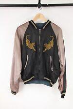 Back Street Crawler Black Satin Reversible Souvenir Sukajan Jacket