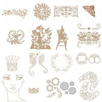 Decor Rattan Crown Mask Girl Hot Foil Plate Embossing Dies Stencil Crafts Album