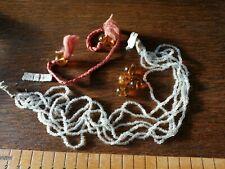 necklace hair braid Flapper Original Antique Glass Beads 1920s