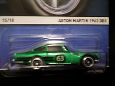 HW HOT WHEELS 2015 REAL RIDERS  #15/18 ASTON MARTIN 1963 DBS HOTWHEELS GREEN