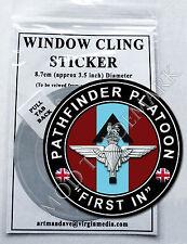"""PATHFINDER PLATOON - """"FIRST IN"""", WINDOW CLING STICKER  8.7cm Diameter"""