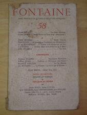 FONTAINE n°58 MARS 1947 ANDRE BRETON JULIEN GRACQ BOSCO REVERDY BENDA