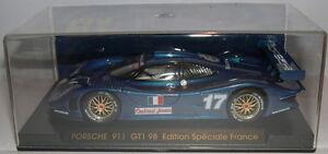 Fly E74 Slot Car Porsche GT1 98 #17 Bleu Edition Spéciale France MB