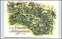 Saale Talsperren Postkarte Wanderkarte Landkarte DDR Region Saalburg, Ranis etc.