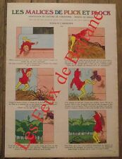 Article Les malices de Plick et Plock,  Plick et l'araignée  clipping 1973