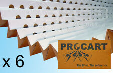 DISCOUNT - 6 x Spray Booth Concertina Pleated Cardboard Paint Filters 1 x 10m