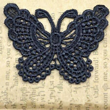 12Pcs Embroidered Butterfly Lace Trim Applique Ribbon Wedding Sewing Accessorie