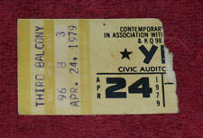YES Ticket Stub April 24 1979 Omaha NE RARE Not Ticketmaster Gen. Adm. Yes