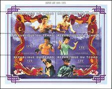 Chad/Tchad 1997 Bruce Lee/Martial Arts/Cinema/Film/Sports/Dragon 6v sht (b3797)