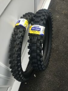 "Michelin Tracker Road Legal Enduro Tyres Pair 21"" 80/100 Front 19"" 110/90 Rear"