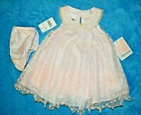 NWT Girls 18 month Bonnie Baby fancy Easter Party polka dot dress & bloomers
