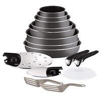 Tefal Ingenio Essential  Set de 8 piezas de aluminio con 2 mangos intercambiable