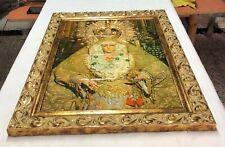 L031 CUADRO EN AZULEJOS CON MARCO DORADO VIRGEN MACARENA 53cm x 43cm