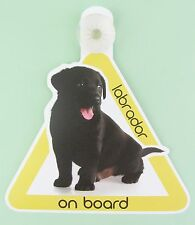On Board Dog Car Sign Labrador on Board  Black Pup Suction Cap provided