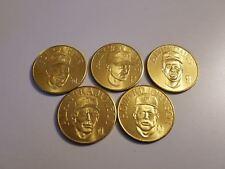 1990 Bandai Gold Baseball Coin lot. 5 vintage coins