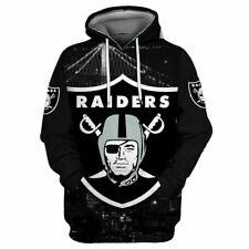 Oakland Raiders Hoodies Football Sweatshirts Men's Casual Pullover Jacket Coat