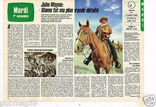 Coupure de presse Clipping 1983 (2 pages) John Wayne Alamo