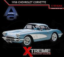 AUTOART 71146 1:18 1958 CHEVROLET CORVETTE (SILVER BLUE)