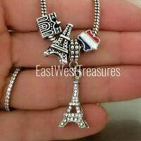 Paris France Landmark Travel memories charm bead For European Bracelet