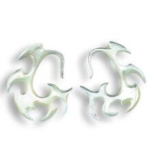 1 Paar ! Perlmutt Muschel Ohrringe im Piercing Style Handarbeit 269