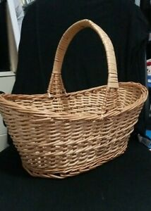 Gorgeous Woven Wicker Rattan Basket w/ Handle Nice Quality