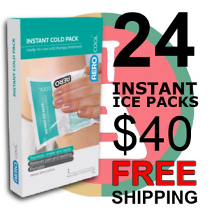 24 INSTANT ICE PACKS 80g Squeeze & Shake FIRST AID Sport Injury Pain Sprain
