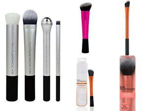 REAL TECHNIQUES Makeup Brushes Sculpting Powder Blush Foundation SPONGE Puff Set