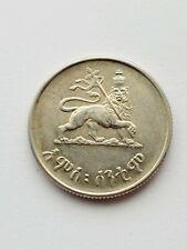 More details for 1944 ethiopia 50 santeem coin .800 silver, high grade,haile selassie,die crack