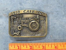 Vintage CASE DC Tractor Belt Buckle 1939 Limited Edition SC Spec Cast Brass