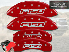 "2012-2014 Ford F150 ""F-150"" Front + Rear Red MGP Brake Disc Caliper Covers 4pc"