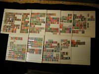 1880s to 1950s German Stock Sheets used and mint over 600+ stamps