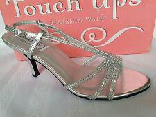 Touch Ups Women's Lyric Sandal Heel Size 9 M silver,  med heel.