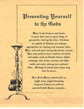 Book of Shadows Spell Pages ** Presenting Yourself To the Gods ** Wicca Witchcra