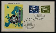 BRD FDC MiNr 367x-368x (2f) Europa (CEPT) 1961 -Vereinigung-Gemeinschaft-Politik
