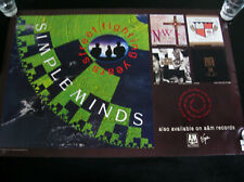 2 SIDED PROMO POSTER - Simple Minds 1989 Street Fighting Years