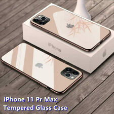 Funda Para i Phone 11 Pro Max 8 7 6s Plus caso plateado templado vidrio con Logo