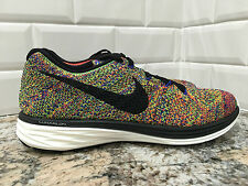 New! Nike Flyknit Lunar3 Multicolor Running Shoes 698181-408 Men's Size 7.5 RARE
