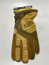 Klein Tools 40227 Journeyman Leather Utility Gloves, Large - NWT!