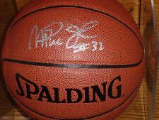 Spalding Nba Fast Break Basketball Signed By Majic Johnson La Lakers #32