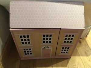 Ladybird Wooden Dolls House With Lots Of Accessories