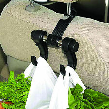 MP in Car Convenient Organiser Seat Headrest Bag & Shopping Hanger Hook Holder