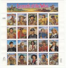 US #2869 MNH 29c Legends of the West se-tenant sheet 1994 cv $15